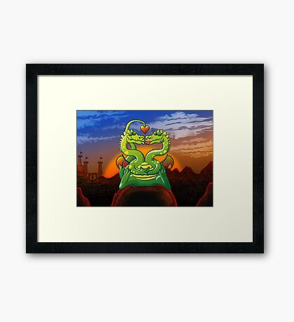 Dragons Madly in Love Framed Print