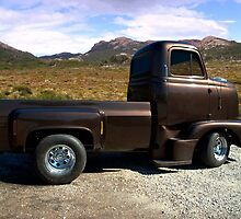 "1954 International Harvester Cab Over Pickup Truck ""Size Matters"" Side View by TeeMack"