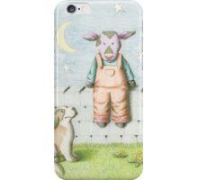 Purple Cow and St Bernard iPhone Case/Skin