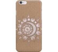 White Moon Flower  iPhone Case/Skin