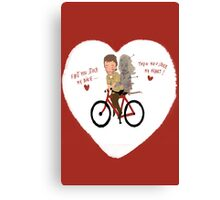 the walking heart/bike Canvas Print