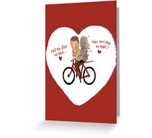 the walking heart/bike Greeting Card