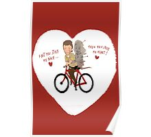the walking dead heart/bike Poster
