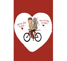 the walking dead heart/bike Photographic Print