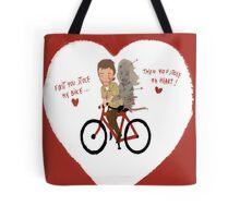 the walking dead heart/bike Tote Bag