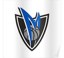 Dallas Maverick Shield Alternative Logo Poster