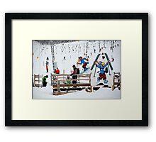 ski area scene Framed Print