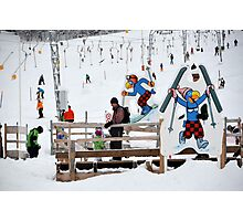 ski area scene Photographic Print