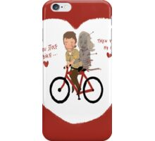 the walking dead heart/bike iPhone Case/Skin