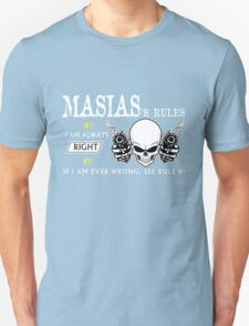 MASIAS Rule #1 i am always right If i am ever wrong see rule #1- T Shirt, Hoodie, Hoodies, Year, Birthday T-Shirt