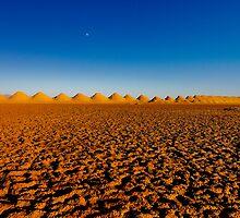Sunset over Amboy's Salt Flats by Alex Preiss