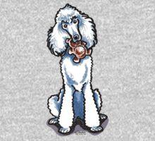 White Standard Poodle Teddy Bear Baby Tee