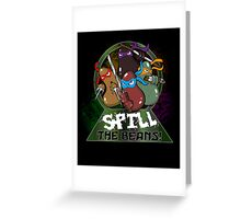 Spill The Beans! Greeting Card