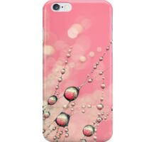 Salmon Pink Sparkles iPhone Case/Skin