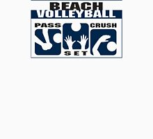 "Beach Volleyball ""Pass - Set - Crush"" Womens Fitted T-Shirt"