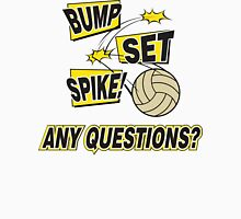 "Volleyball ""Bump Set Spike Any Questions?"" Womens Fitted T-Shirt"
