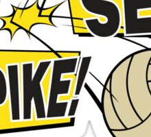 """Volleyball """"Bump Set Spike Any Questions?"""" Sticker"""