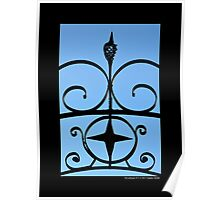 Vintage Wrought Iron Gate Detail - Riverhead, New York  Poster