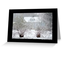Little Blue House In Blizzard - Middle Island, New York Greeting Card