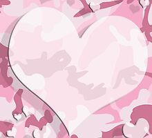 Cute Pink Camo Hearts by iEric