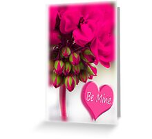 hot pink valentine Greeting Card