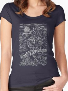 Owl within Tiger Women's Fitted Scoop T-Shirt
