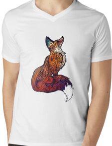 Space Fox Mens V-Neck T-Shirt