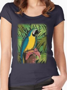 Blue and Gold Macaw Women's Fitted Scoop T-Shirt