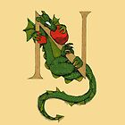 "Oscar and the Roses ""N"" (Illustrated Alphabet) by Donnahuntriss"