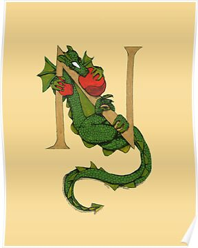 "Oscar and the Roses ""N"" (Illustrated Alphabet) by Donna Huntriss"
