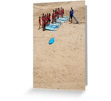 Surfing lesson Greeting Card
