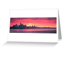 Liverpool Sunrise Panoramic Greeting Card