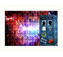 Consulting Time Lord Art Print