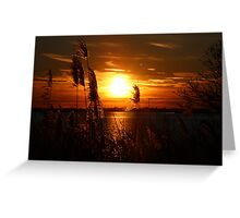 Sunset on the East End of Long Island Greeting Card