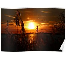 Sunset on the East End of Long Island Poster