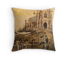 BUILDING ST.JOHNS CHURCH, RICHMOND Throw Pillow