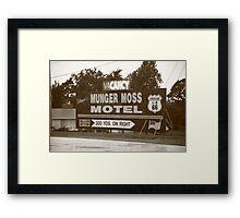 Route 66 - Munger Moss Motel Sign Framed Print