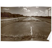Abandoned Route 66 Poster