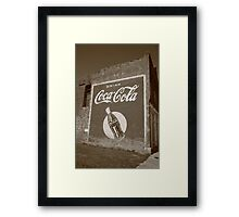 Route 66 - Coca Cola Ghost Mural Framed Print
