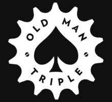 OMT Cog Logo - White with Cutouts by OldManTriple