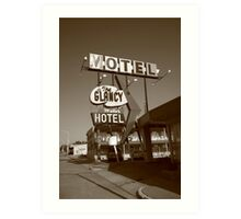 Route 66 - Glancy Motel Art Print