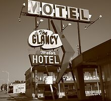 Route 66 - Glancy Motel by Frank Romeo