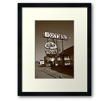 Route 66 - Glancy Motel Framed Print