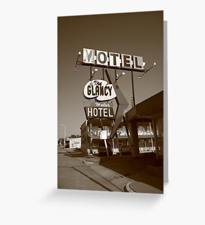 Route 66 - Glancy Motel Greeting Card