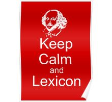 Keep Calm and Lexicon Poster