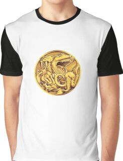 Mighty Morphin Power Rangers Megazord Coin Graphic T-Shirt