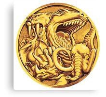 Mighty Morphin Power Rangers Megazord Coin Canvas Print