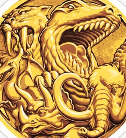 Mighty Morphin Power Rangers Megazord Coin Sticker