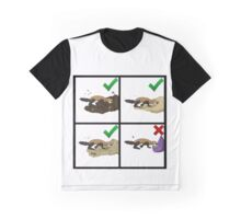 Ferret Digs and Don'ts Graphic T-Shirt