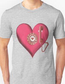 ♥•.¸¸.ஐ CALL ME.. HEART PHONE TEE SHIRT ♥•.¸¸.ஐ T-Shirt